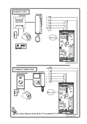 Comelit Interphone Interphone Audio Filaire 5 Fils 1 Habitation
