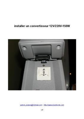 schema convertisseur 12v 220v notice manuel d 39 utilisation. Black Bedroom Furniture Sets. Home Design Ideas