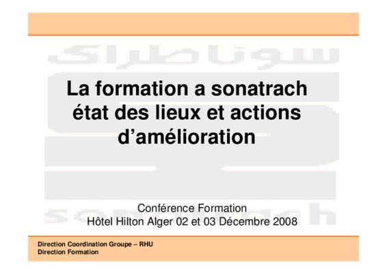 Nouveau organigramme sonatrach notice manuel d 39 utilisation - Formation par correspondance reconnue par l etat ...