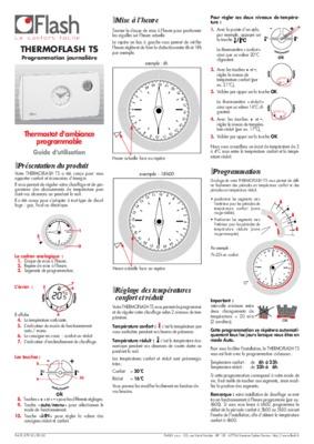 Thermostat thermoflash digital notice manuel d 39 utilisation - Thermoflash digi 2 ...