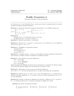 Exercices Et Corriges Fonctions Reciproques.pdf notice ...