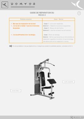 banc musculation domyos hg 60 notice manuel d 39 utilisation. Black Bedroom Furniture Sets. Home Design Ideas