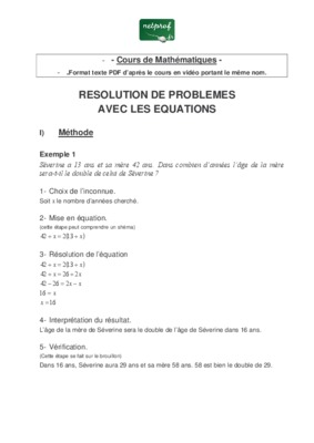 Equation differentielle 2eme ordre avec second membre pdf free
