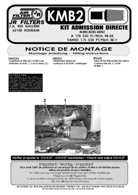 Gbf xr2206 notice manuel d 39 utilisation for Montage piece auto garage