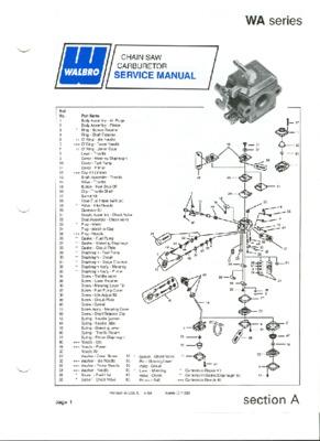 schema carburateur walbro wt 286 notice manuel d 39 utilisation. Black Bedroom Furniture Sets. Home Design Ideas