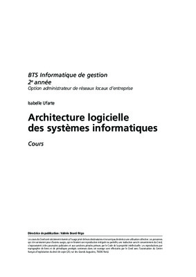 Architecture logicielle notice manuel d for Architecture logicielle