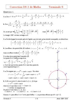 Correction Du Livre De Math Ciam Terminale Sm.pdf notice ...