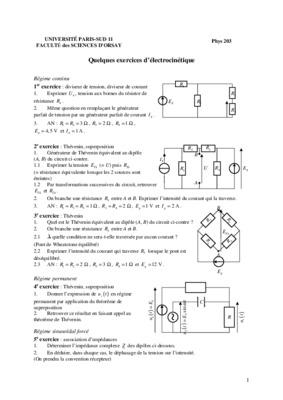 Electrocinetique Exercices Corrige Listes Des Fichiers Pdf ...