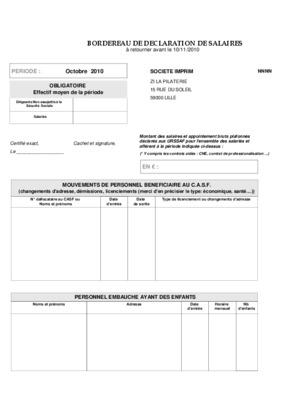 declaration de cotisation cnas