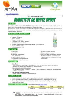 Fds white spirit notice manuel d 39 utilisation for Utilisation du white spirit