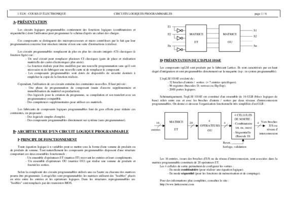 Enigmes notice manuel d 39 utilisation for Circuit logique pdf
