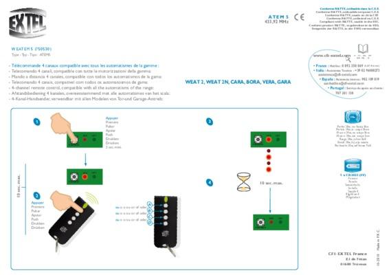 Extel Cara.pdf notice & manuel d\'utilisation
