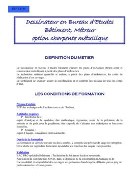 Guide de dessinateur du notice manuel d for Dessinateur bureau etude