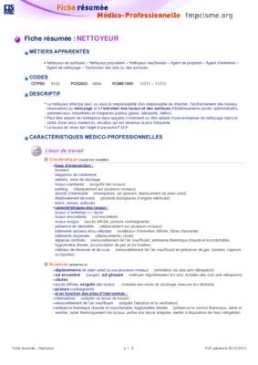 Exemple cv agent de nettoyage - Chauffage air pulsé electrique
