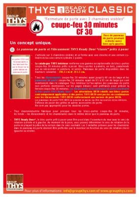 Pv portes coupe notice manuel d 39 utilisation for Pv porte coupe feu