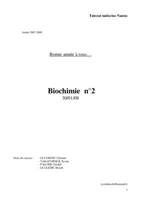 La Correction Cahier D_exercices De Biochimie 2010 2011.pdf notice & manuel d'utilisation