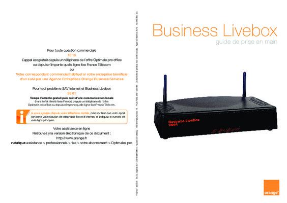 livebox business notice manuel d 39 utilisation. Black Bedroom Furniture Sets. Home Design Ideas
