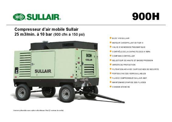 manuel d'utilisation Sullair 185 manuel du compresseur