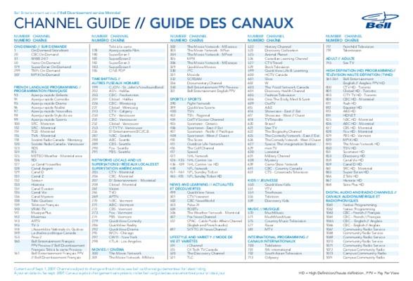 International TV programming - Bell Canada | 1pdf.net