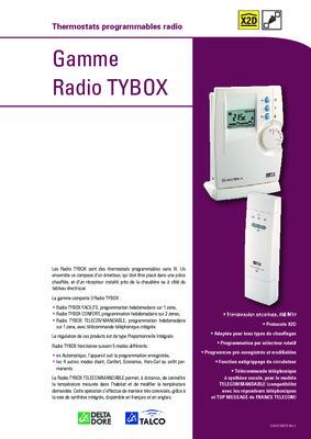 Moderne delta dore micro tybox radio x2d 868 manuel CJ-12