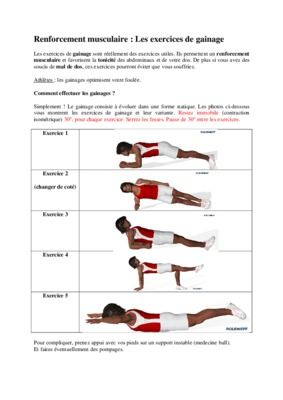 le renforcement musculaire en gymnastique notice manuel d 39 utilisation. Black Bedroom Furniture Sets. Home Design Ideas