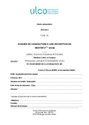 lettre de motivation master biologie pdf