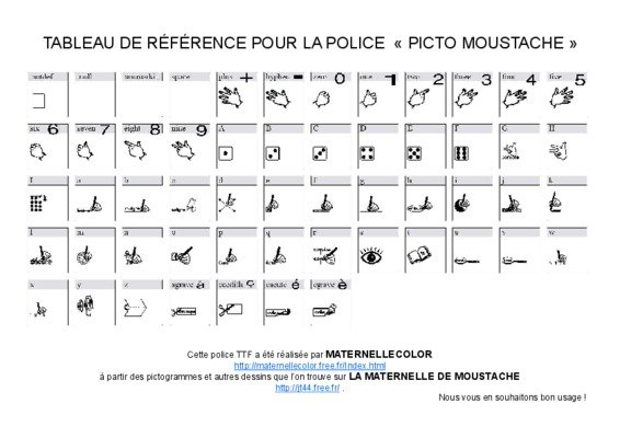 police picto moustache