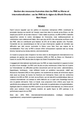 la politique des ressources humaines au chu du maroc