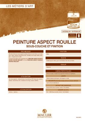 Aspect psychologique notice manuel d - Peinture aspect rouille ...