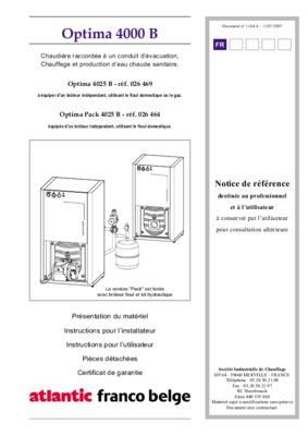 Chaudiere fioul optima 3000 notice - Comptoire d electricite franco belge ...