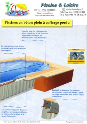 Coffrage notice manuel d 39 utilisation for Piscine coffrage perdu
