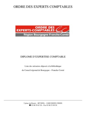 Rapport stage expert notice manuel d - Rapport de stage cabinet d expertise comptable ...