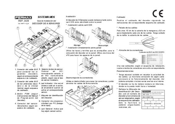 sensores notice manuel d 39 utilisation. Black Bedroom Furniture Sets. Home Design Ideas