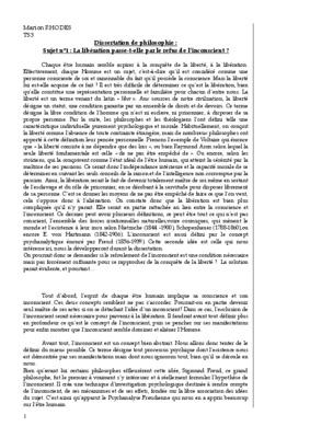 Corrige de dissertation de philo