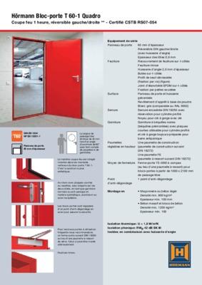 pv porte coupe feu 1 2 notice manuel d 39 utilisation. Black Bedroom Furniture Sets. Home Design Ideas
