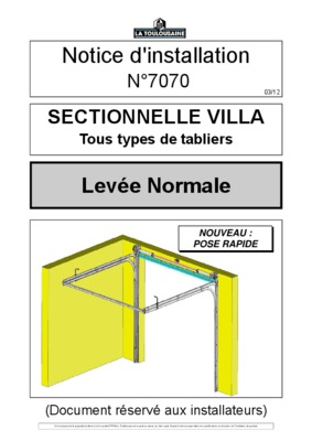 notice motorisation porte sectionnelle notice manuel d 39 utilisation. Black Bedroom Furniture Sets. Home Design Ideas