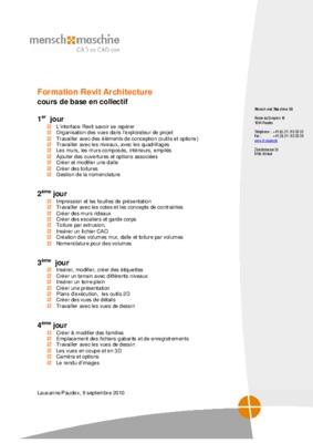 Cours revit architecture notice manuel d for Cours d architecture en ligne