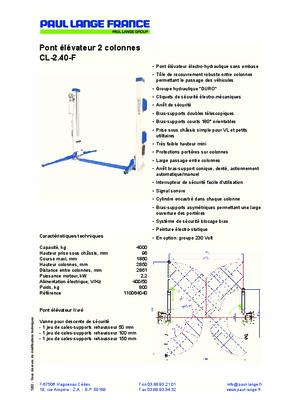 montage pont elevateur fog notice manuel d 39 utilisation. Black Bedroom Furniture Sets. Home Design Ideas
