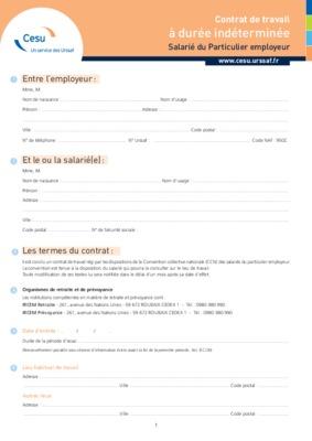 modele certificat de travail cesu