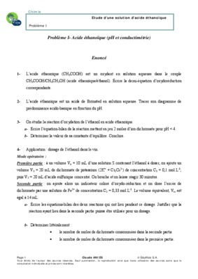Tp chimie acide methanoique acide benzoique acide - Acide chlorhydrique utilisation ...