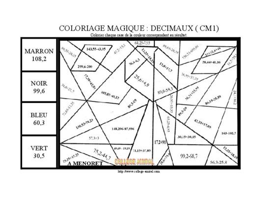 Coloriage Magique Decimaux.Coloriage Magique College Colorier Les Enfants Marnfozine Com