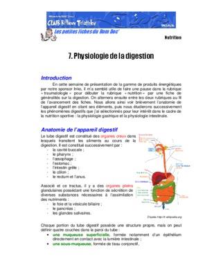 Physiologie digestive pdf