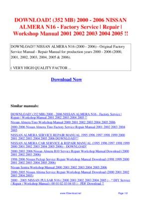 Manuel Utilisation Nissan Almera Pdf Notice Amp Manuel D