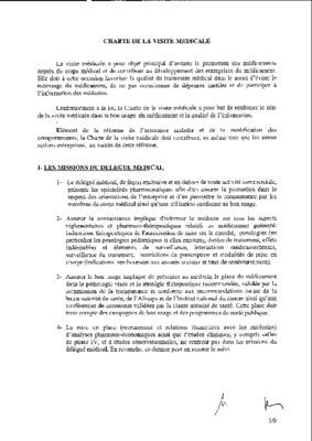 Charte De La Visite Medicale