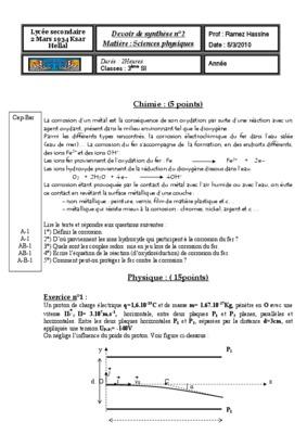 Devoir Maison Physique Chimie 3Eme – Ventana Blog