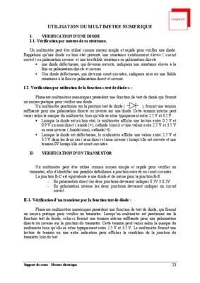 Manuel Dutilisation Multimetru Digital