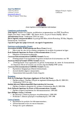 epreuve probatoire a4 cameroun