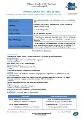 Exercice Powerpoint 2007 Gratuit.pdf notice & manuel d'utilisation