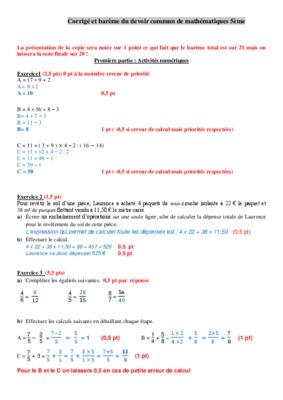 Devoir Maison de Mathématiques n°1 : Enoncés - Intellego.fr