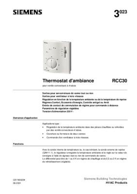 Thermostat ambiance thermoflash notice manuel d 39 utilisation - Thermoflash digi 2 ...